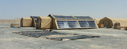 Shelters with Solar Fly